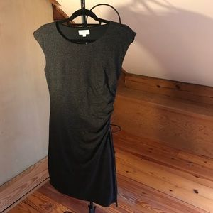 Loft Outlet Gray Gathered Work Dress, NWT, S